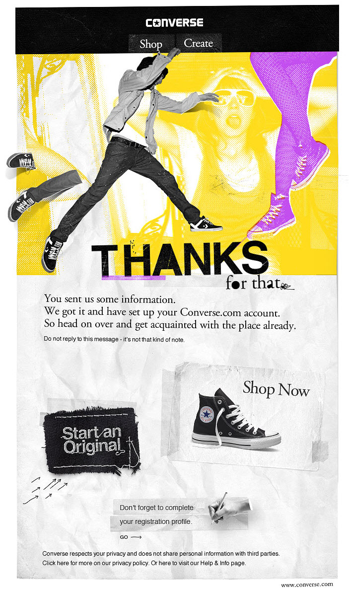 converse-welcome-email