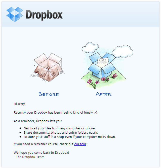 dropbox-email-example