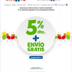 ToyRUS Welcome Email