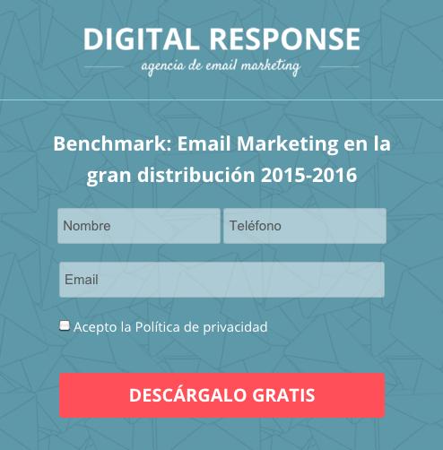 Formulario generación de leads Digital Response