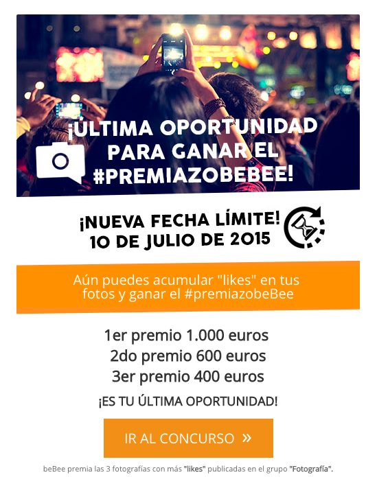 Call to action en email marketing concurso beBee