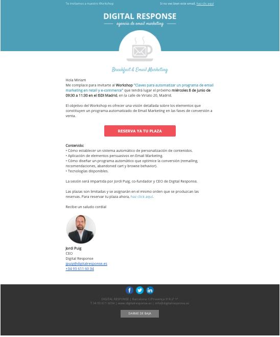 Invitación Workshop Barcelona Digital Response