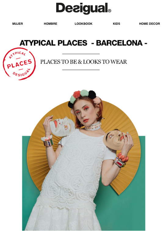 Atypical Places Desigual Email Marketing 1