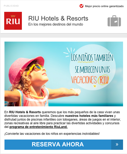 Email Marketing RIU Hotels & Resorts