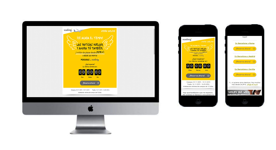 Responsive Email Vueling