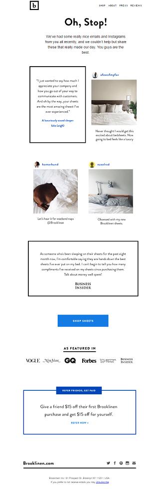 Ejemplo Email Marketing - Productos con ciclo de compra corto