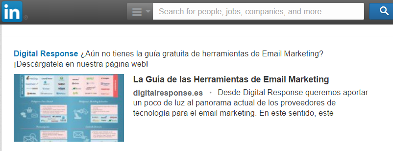 Herramientas email marketing Linkedin