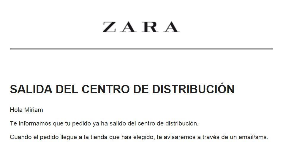 Ejemplo Zara automatización