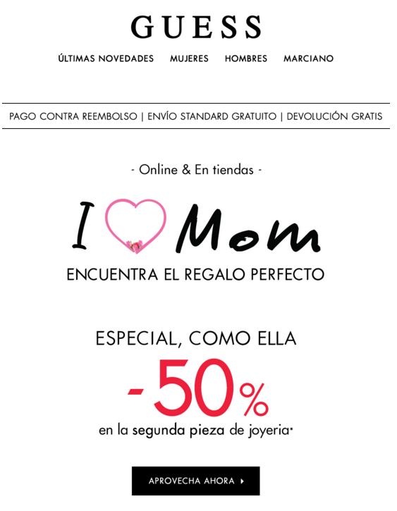 Email Marketing Día de la madre Guess