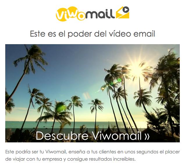 Vídeo en Email Viwomail
