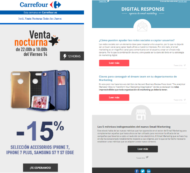 Carrefour y Digital Response Email Marketing