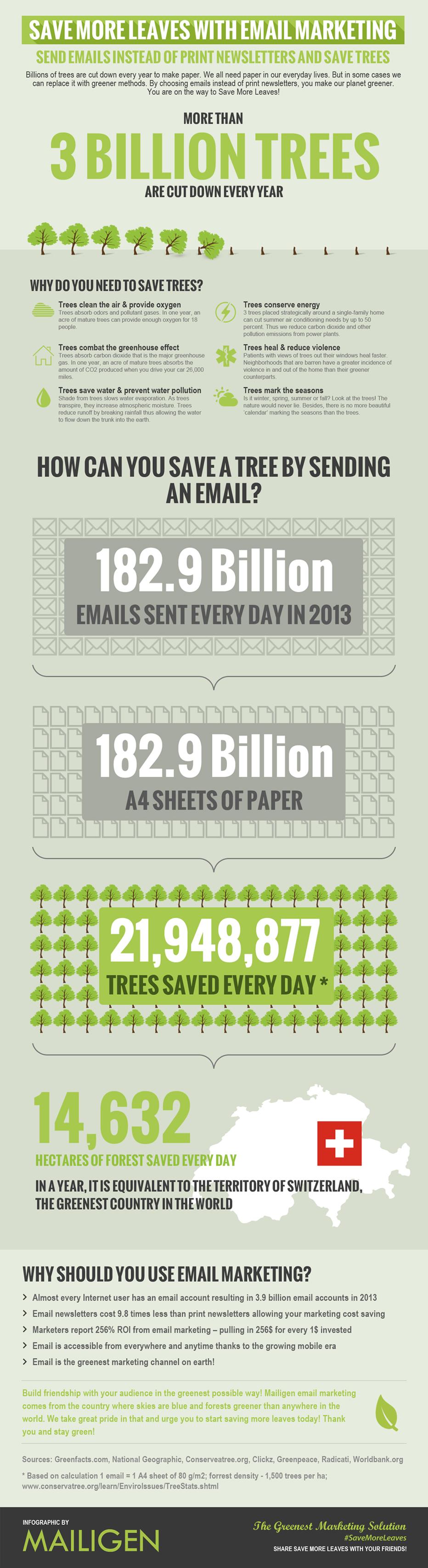 Infografía Emal Marketing ecológico MAILIGEN